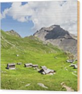 Chalets De Clapeyto # II - French Alps Wood Print