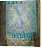 Chalice-tree In The Forest V2 Holiday Card Wood Print