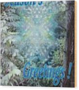 Chalice-tree Spirit In The Forest V3 Holiday Card Wood Print