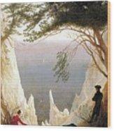 Chalk Cliffs Wood Print