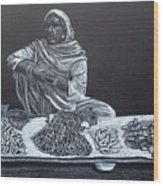 Chalk Seller Wood Print by Ekta Gupta