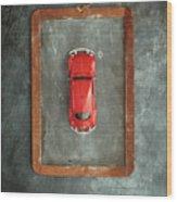 Chalkboard Toy Car Wood Print