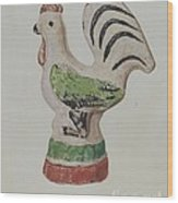 Chalkware Rooster Wood Print