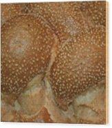 Challah Bread Wood Print