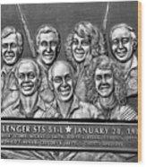 Challenger Crew Wood Print