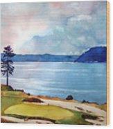 Chambers Bay 15th Hole Wood Print by Scott Mulholland