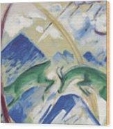Chamois Wood Print