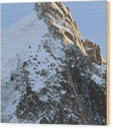 Chamonix - Aiguille Du Midi Wood Print