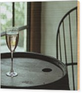 Champagne Glass Wood Print