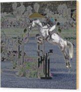 Champion Horse Jumper Wood Print