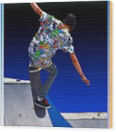 Champion Skater Wood Print