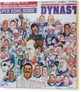 Championship Patriots Newspaper Poster Wood Print