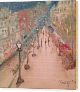 Champs De Elysee At Twilight. #paris Wood Print