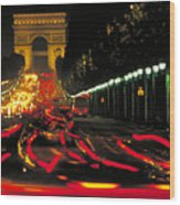 Champs Elysee In Paris Wood Print