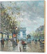 Champs Elysees Avenue, Paris Wood Print