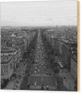 Champs Elysees In Paris Wood Print