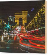 Champs Elysees Wood Print