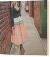 Chance Meeting In Fan Tan Alley Wood Print