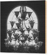 Chandelier Wood Print