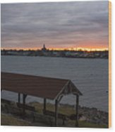 Chandler Hovey Park Sunset Marblehead Ma Wood Print