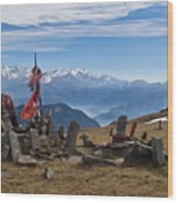 Chandrakani Pass Shrine 2 Wood Print