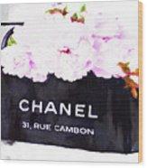 Chanel Bag With Peony  Wood Print