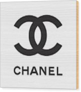 Chanel - Black And White 04 - Lifestyle And Fashion Wood Print