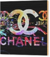 Chanel Black Wood Print