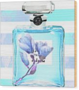 Chanel Blue Decor Wood Print