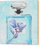 Chanel Blue Flower 3 Wood Print