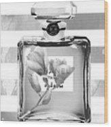 Chanel Flower Grey Wood Print