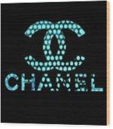 Chanel Light Blue Points Wood Print