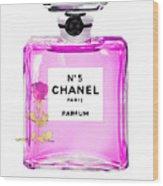 Chanel N 5 Perfume Print Wood Print