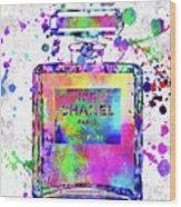 Chanel N.5 Colorful 5 Wood Print