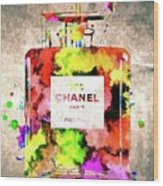 Chanel No. 5 Colored  Wood Print