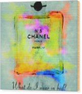Chanel No.5  Wood Print
