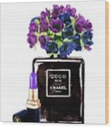 Chanel Noir Perfume Bottle Wood Print