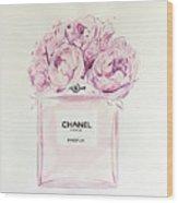 Chanel Peonies Wood Print