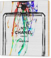 Chanel No. 5 White Wood Print