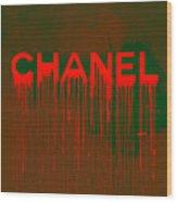 Chanel Plakative Fashion - Neon Weave Wood Print