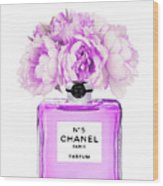 Chanel Print Chanel Poster Chanel Peony Flower Wood Print