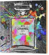 Chanel Rainbow Colors Wood Print