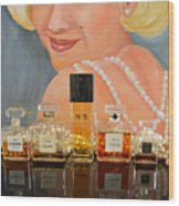 Chanels With Marilyn Monroe Wood Print