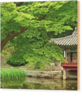 Changdeokgung Secret Garden in Spring Wood Print