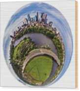 Change Your Perspective Minneapolis White Surround Wood Print