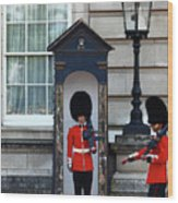 Changing Of The Guard 2 Wood Print