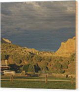 Changing Weather Over Farmland In Southwestern Usa Wood Print