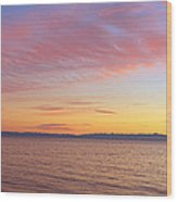Channel Islands And Pacific At Sunset Wood Print