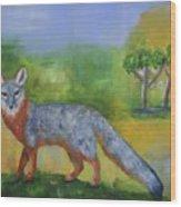 Channel Islands' Island Fox Wood Print