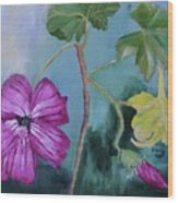 Channel Islands' Island Mallow Wood Print